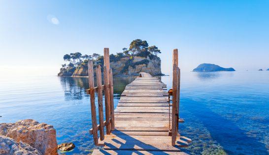 Brygga på Zakynthos