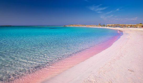 Magiska stränder Elafonissi på Kreta